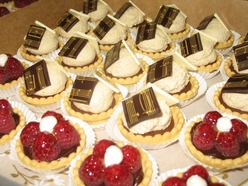 Assorted chocolate coffee tartlettes